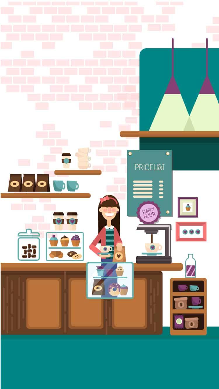 Coffee Shop Vector Clip Art 3