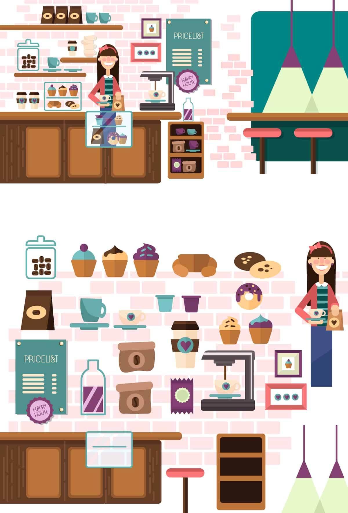 Coffee Shop Vector Clip Art 5