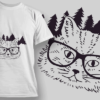 Happy Holidays hipster cat preview