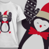 Penguin With Wreath penguin mitts preview