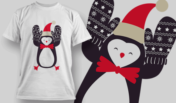 Penguin With Mitts penguin mitts preview