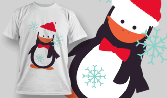 Penguin T-shirt Designs and Templates vector