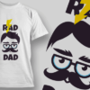 Penguin With Wreath rad dad preview
