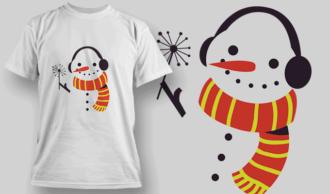 Snowman T-shirt Designs and Templates vector