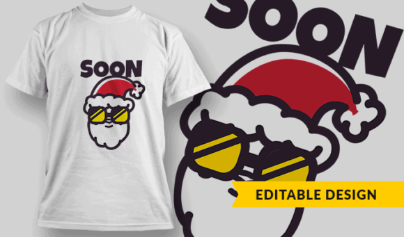 Soon | Editable T-shirt Design Template 2278 1