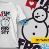 Team Rudolph Lineart T-shirt Design stay frosty preview