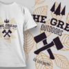 Team Rudolph Lineart T-shirt Design the great outdoors preview