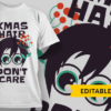 Fright This Way-T-Shirt-Typography-2249 xmas hair dont care preview