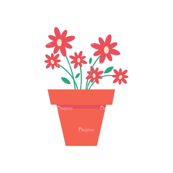 Gardening 2 Flower Pot 01 Svg & Png Clipart 1