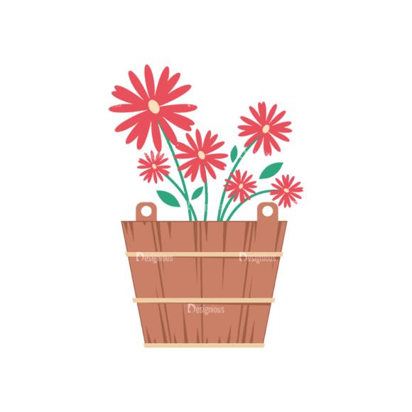 Gardening 2 Flower Pot 07 Svg & Png Clipart 1