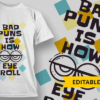 Allergic To People bad puns is how eye roll preview