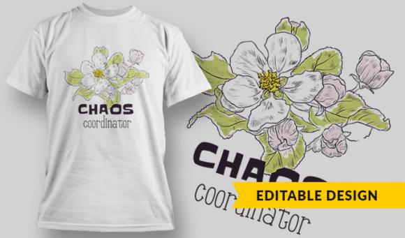 Chaos Coordinator | Editable T-shirt Design Template 2326 1
