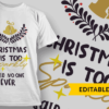 """Christmas With The"" + Family Name Placeholder christmas is too sparkly said noone ever preview"