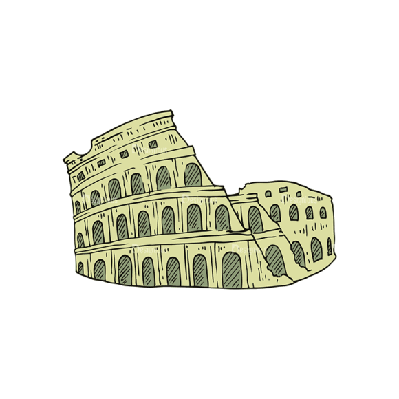 Engraved Travel Set 1 Coliseum Svg & Png Clipart engraved travel vector set 1 vector coliseum