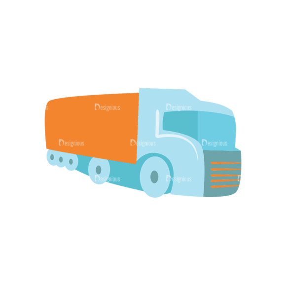 Flat Transport  Set 1 Truck Svg & Png Clipart 1