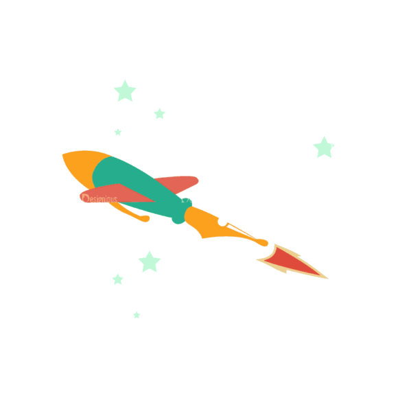 Flying Set 3 Spaceship 05 Svg & Png Clipart flying vector set 3 vector spaceship 05
