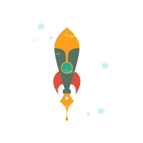 Flying Set 3 Spaceship 06 Svg & Png Clipart flying vector set 3 vector spaceship 06