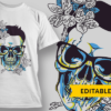 Have Some Shut The Fucupcake hipster skull flowers preview