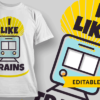 I'm A Teacher i like trains preview