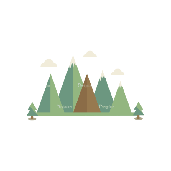 Mountain And Camping Info Elements Mountain Svg & Png Clipart mountain and camping vector info elements vector mountain