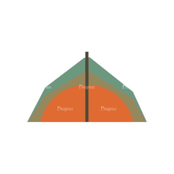 Mountain And Camping Info Elements Tent 05 Svg & Png Clipart 1