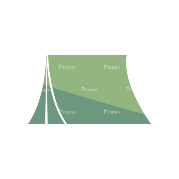 Mountain And Camping Info Elements Tent 07 Svg & Png Clipart 1