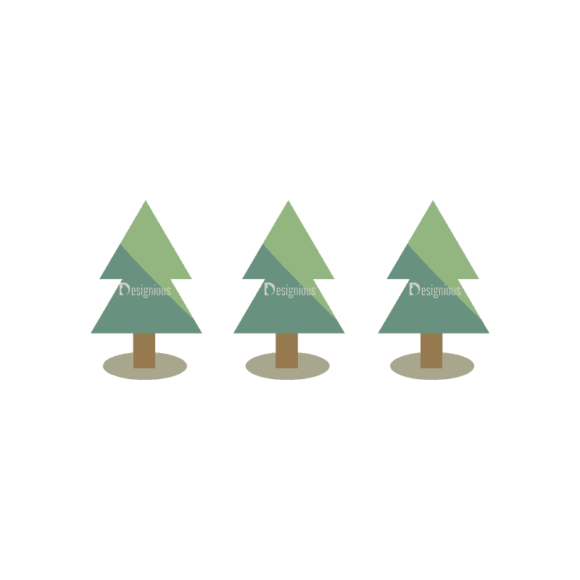 Mountain And Camping Info Elements Trees 10 Svg & Png Clipart mountain and camping vector info elements vector trees 10