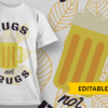 Let's Go Camping mugs not drugs preview