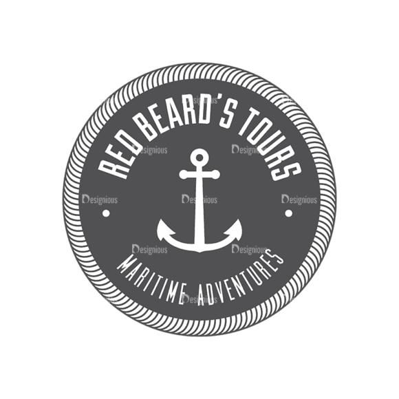 Nautical Labels Set 3 Logo 06 Svg & Png Clipart 1