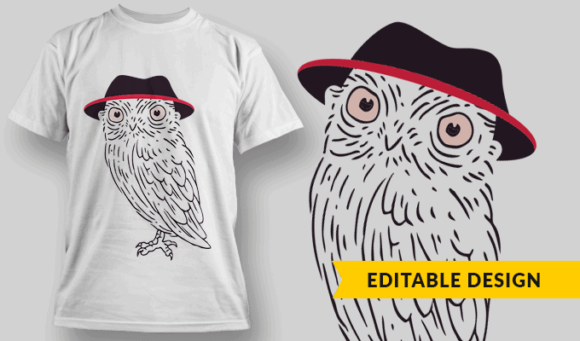 Pink-Eyed Owl With Hat owl with hat preview