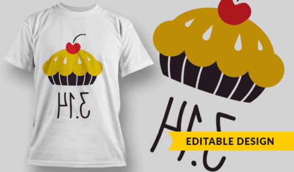 Pie (mirrored 3.14)   Editable T-shirt Design Template 2316 1
