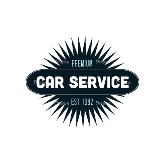 Retro Car Labels Set 2 Logo 03 Svg & Png Clipart 1