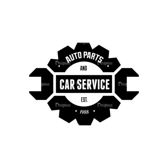 Retro Vintage Car Labels Set Logo 01 Svg & Png Clipart 1
