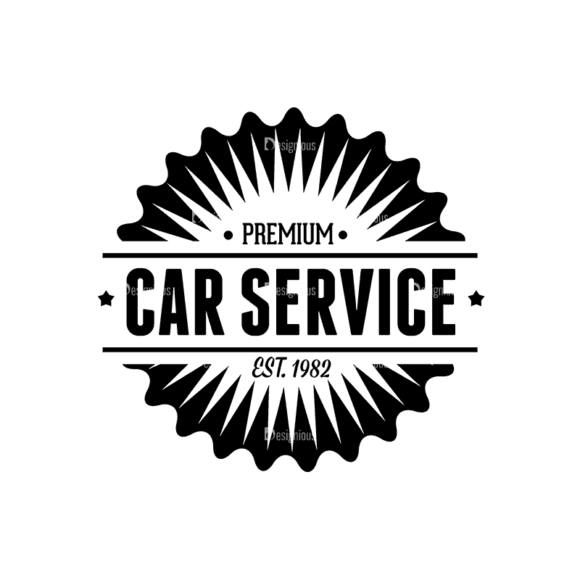 Retro Vintage Car Labels Set Logo 02 Svg & Png Clipart 1