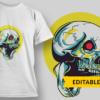 Ornate Skull robot skull preview