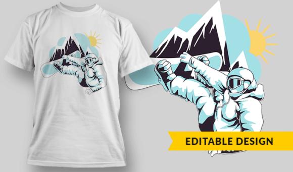 Snowboarder | Editable T-shirt Design Template 2298 1