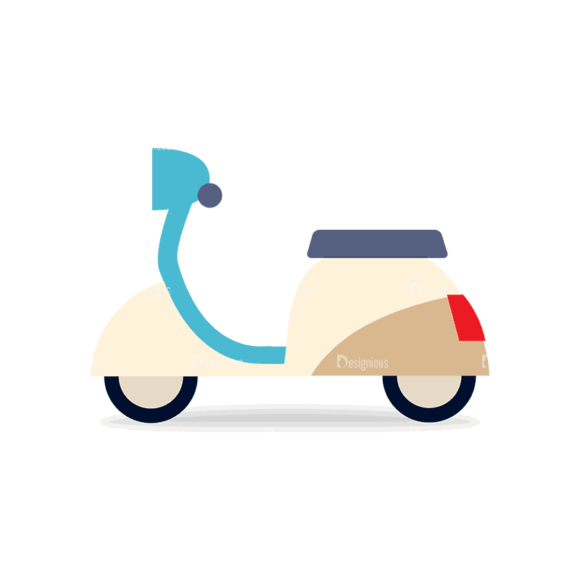 Transportation Set 1 Scooter Svg & Png Clipart transportation vector set 1 vector scooter