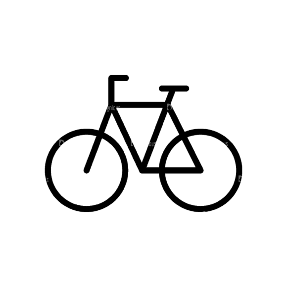 Travel Icons Set 4 Bicycle Svg & Png Clipart 1