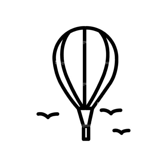Travel Icons Set 4 Hotair Balloon Svg & Png Clipart travel icons set 4 vector expanded hotair balloon