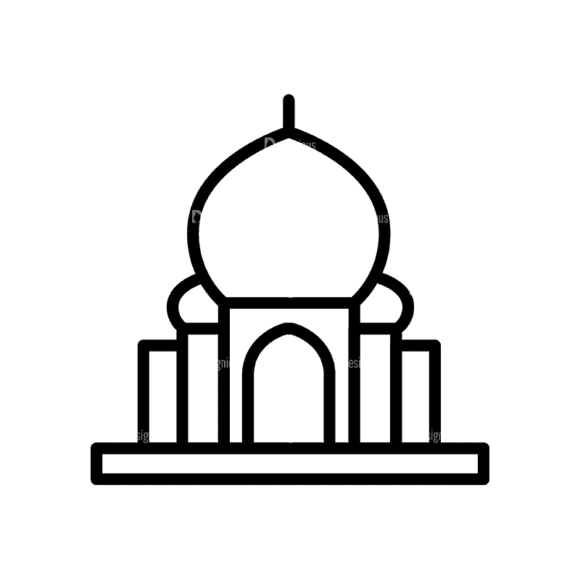 Travel Icons Set 4 Mosque 17 Svg & Png Clipart travel icons set 4 vector expanded mosque 17