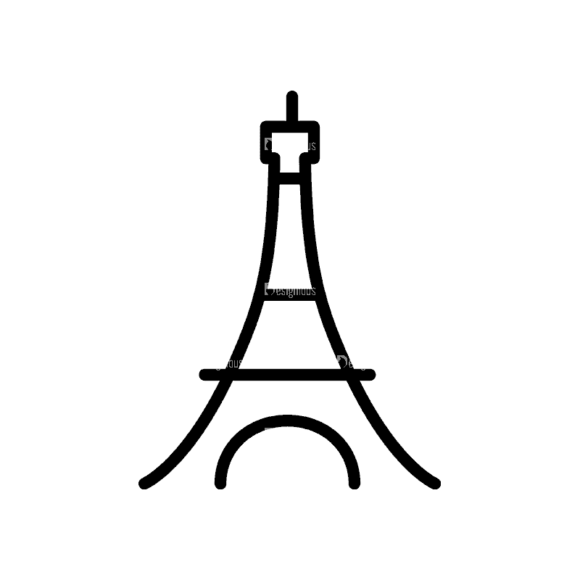 Travel Icons Set 4 Tower 16 Svg & Png Clipart travel icons set 4 vector expanded tower 16