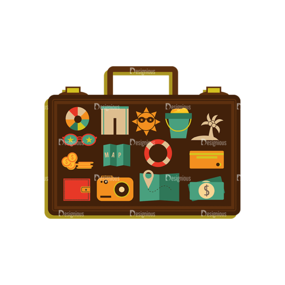 Travel Set 1 1 Luggage Svg & Png Clipart travel vector set 1 vector 1 luggage