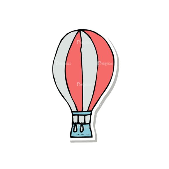 Travel Set 1 Hotair Balloon Svg & Png Clipart travel vector set 1 vector hotair balloon