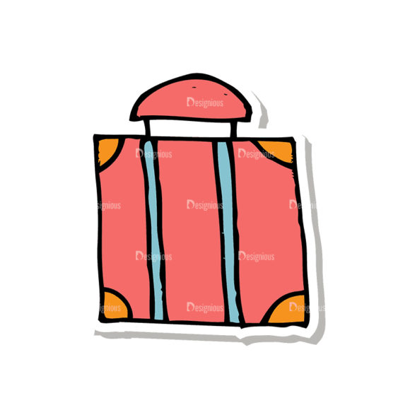 Travel Set 1 Luggage Svg & Png Clipart travel vector set 1 vector luggage