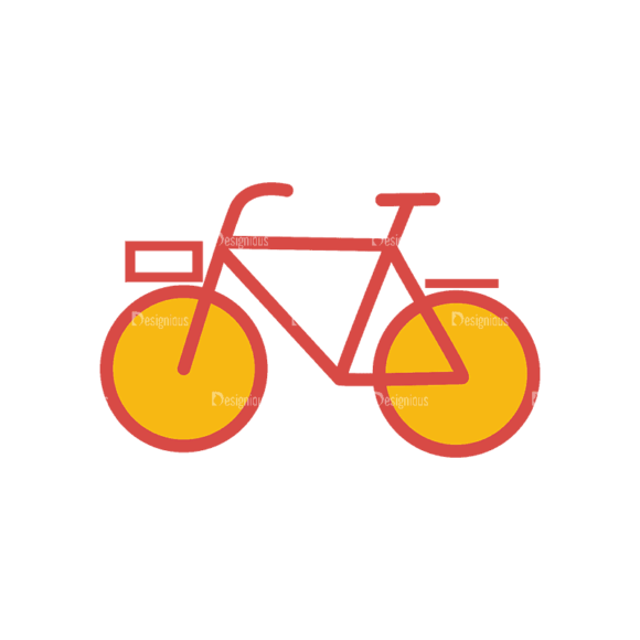 Travel Set 18 Bicycle Svg & Png Clipart 1