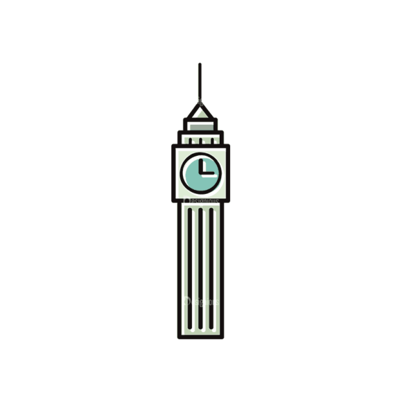 Travel Set 22 Tower Svg & Png Clipart travel vector set 22 vector tower