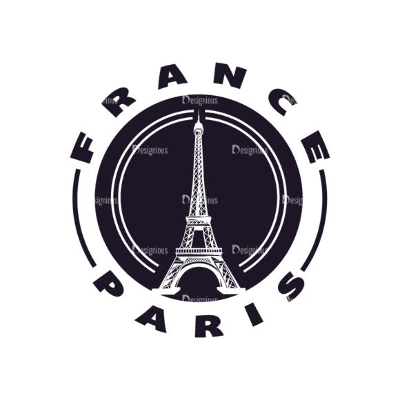Travel Stamps Set 2 France Paris Svg & Png Clipart travel vector stamps vector set 2 vector france paris