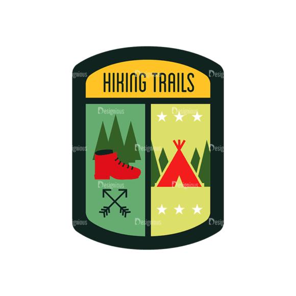 Vintage Outdoor Camp Badges Set 1 Badge 09 Svg & Png Clipart vintage outdoor camp badges set 1 vector badge 09