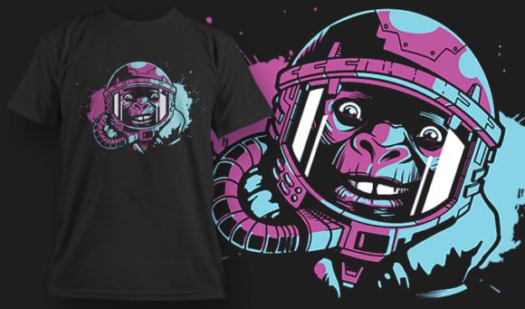 Astro-Chimp 2 | T-shirt Design Template 2448 astrochimp 2 preview