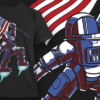 Astronaut With US Flag | T-shirt Design Template 2450 1